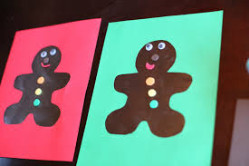 Christmas Craft For Kids Scented Gingerbread Man Art From Fun At Home With