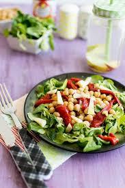 image recette cuisine recette de salade de piquillos et pois chiches au cantal salade
