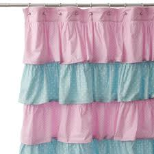 Pink Ruffle Blackout Curtains by Pink Ruffle Blackout Curtains Dashing Black Curtain Homey Etsy