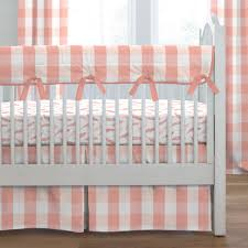 Coral And Mint Crib Bedding by Peach Nursery Bedding Home Design Styles
