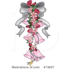 Royalty Free RF Wedding Bells Clipart Illustration by Pams Clipart Stock Sample