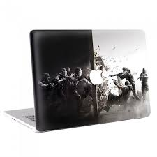 apple siege tom clancys rainbow six siege fighting macbook skin decal