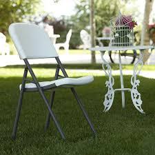 Folding Chair Carts Lifetime by Amazon Com Lifetime 80155 Loop Leg Folding Chair White Granite