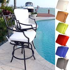 Cast Aluminum Patio Furniture With Sunbrella Cushions by Outdoor Rectangle Bar Stool Cushions For Seat And Backrest