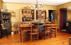Amazing Primitive Decorating Ideas For Kitchens With Dining Table
