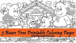 Three Bears Free Printable Coloring Pages