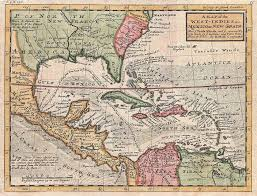 Herman Molls 1732 Map Of The Caribbean