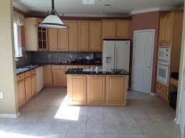 kitchen attractive oak cabinets and white appliances kitchen