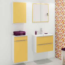set badezimmer mobiliar in gelb nadrado 4 teilig