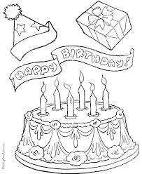 New Birthday Cake Coloring Pages Printable 56 For Your Books With
