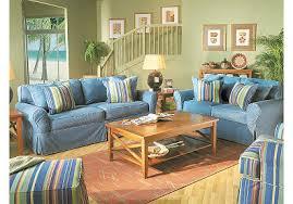 cindy crawford home beachside denim 7 pc livingroom slipcovers