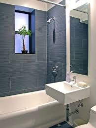 contemporary bathroom with wall mounted sink by maryellen