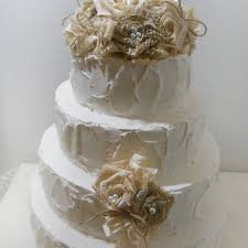 Burlap Lace Rustic Cake Topper Natural And
