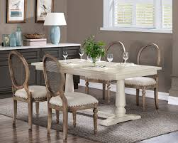 White Farmhouse Pedestal Table From Overstock