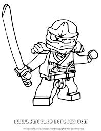 Zane Ninjago Coloring Page