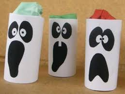 Halloween Crafts Adults Decorations For Kids Toilet Paper Roll Ghost Decoration Ideas