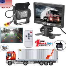 100 Rear Camera For Truck 7 TFTLCD View Monitors Reverse Backup Kit Night