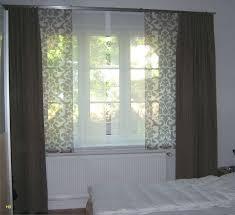 wohnzimmer eckfenster ideen suche gardinen