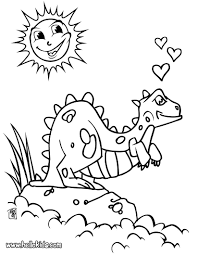 Dinosaur In Love Coloring Page