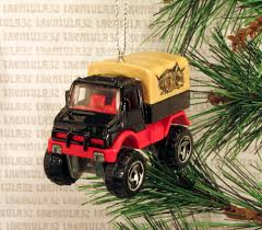 100 Unimog Truck MERCEDESBENZ UNIMOG TRUCK BLACK RED TAN CHRISTMAS ORNAMENT XMAS EBay