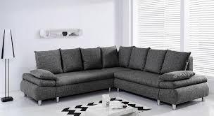 c discount canape d angle naho canapé d angle droit convertible 6 places tissu gris