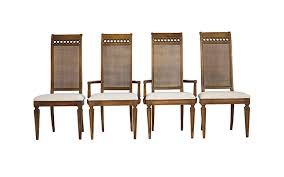 Thomasville Cane Back Dining Chairs - Janney's Collection Set Of Four Ethan Allen Cane Back Ding Chairs Ebth Chair Fniture Outlet Atlanta Fair Eastgate Row Spokane Room French Provincial Cane Back Ding Chairs Thomasville Room Ideas Eight Mid Century Modern S8 Milo Baughman New Fabric Chrome Pair Vintage French Country Arm 2 Ideas On For Sale Au Uk Pwick Antiques English And Montgomery Alabama Fishmag