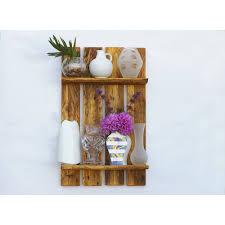 palettenholz regal regal für vasen einzigartig wandregal aus palette palettenmöbel holz wohnen deko holzregal