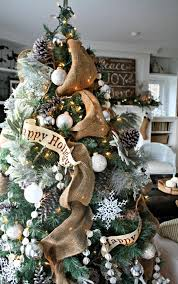 Fascinating Rustic Christmas Tree Decorations 93 On Home Decoration Ideas With