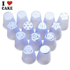 14pcs Lot Russian Tulip Plastic Icing Piping Nozzles Making Flower Mold Pastry Decorating Tips Cake Cupcake I CAKE On Aliexpress