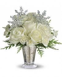 Christmas Flower Arrangement White Glow