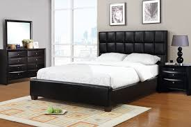 Size Claiborne Black Leather Bed Frame