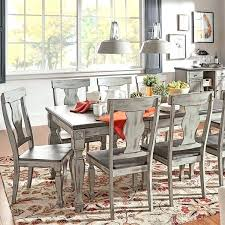 Two Toned Dining Room Set Tone Tables Grey Wood Butterfly Leaf