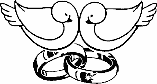 two wedding ring with two birds