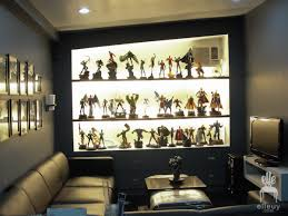 Dark Walls Black Home Office Stripe Wall Display Shelves