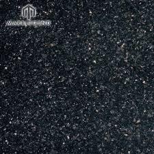 Wholesale Cheap Interior Granite Flooring Tile Black Galaxy