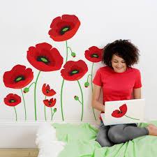 Wall Mural Decals Flowers by Naklejki Scienne Maki Crafty Ness Pinterest