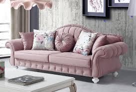 casa padrino barock sofa rosa weiß 225 x 83 x h 92 cm wohnzimmer sofa im barockstil barock möbel