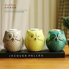 Candlestick ceramic owl Candle Holder home decor handicraft crafts