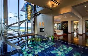 Acqua Liana Ocean Front Estate Featuring Marvelous Glass Water Floor