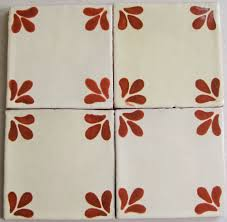 reeso tiles 25 t105 talavera decorative tile in terracotta 4x4