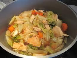 cuisiner le chou chinois cuit potée de chou chinois et poulet diet délices recettes