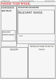 Newspaper Front Page Template This Is The I Have