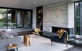 تحميل خلفيات أنيق غرفة المعيشة التصميم الحديث الموقد