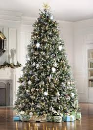 Pre Lit Flocked Christmas Tree Canada by 9 Foot Led Christmas Tree Rainforest Islands Ferry