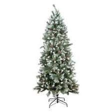 Slim Christmas Trees Prelit by Fine Decoration Slim Christmas Trees Prelit Classic Flocked Pre