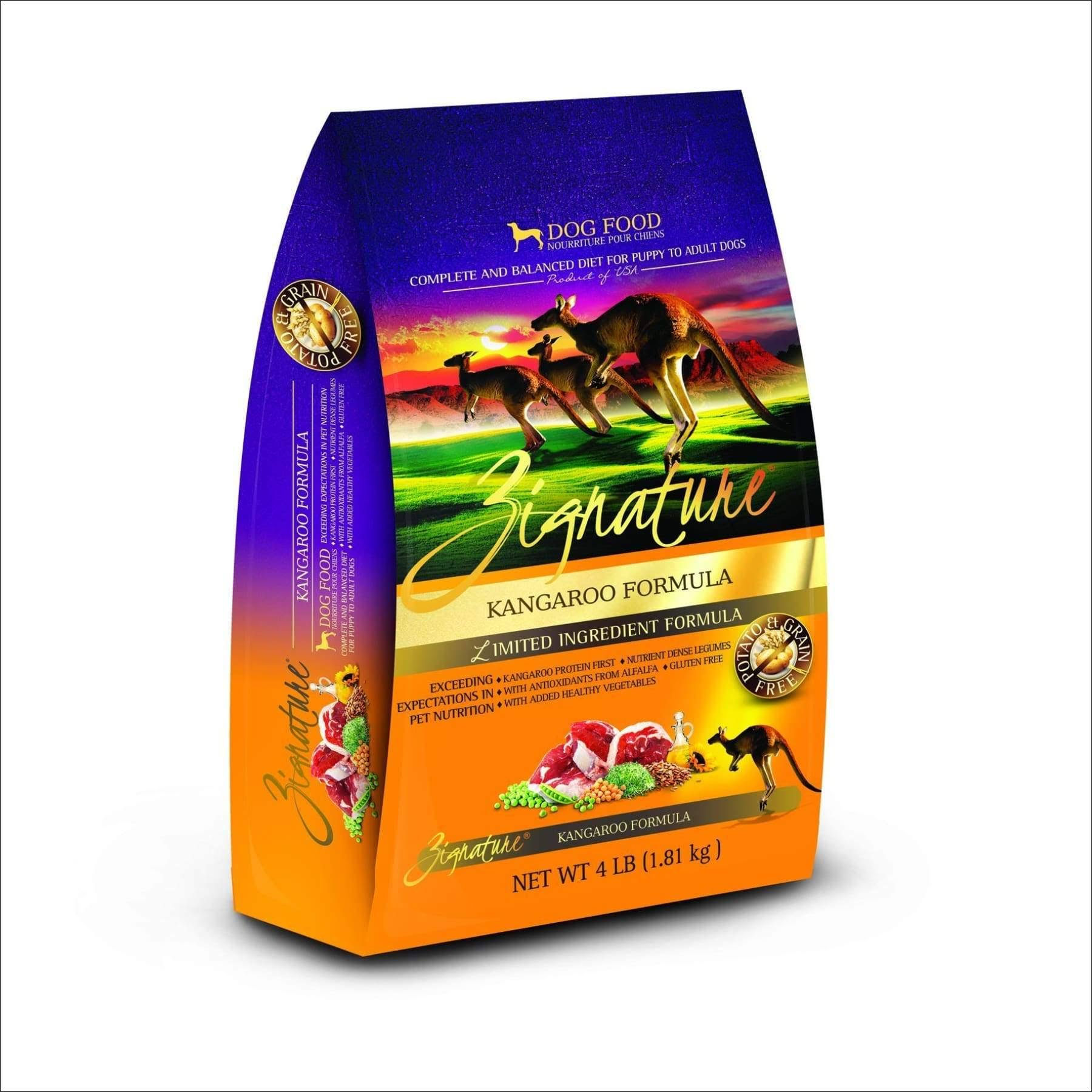 Zignature Kangaroo Formula Dog Food - 4lb