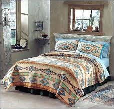 Soutwest Style Painted Furniture Southweststyle Southwestbedrooms Southwestdecorating Southwestern Quilt Patterns Southwest Kits
