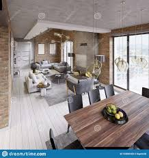 100 What Is A Loft Style Apartment Modern Dining Room With Dining Table Nd Eight Chairs In