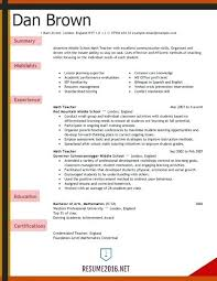 Sample Resume For Teachers In Ontario Plus Resumes Teaching Teacher Example Elementary With No
