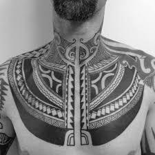 Tribal Front Of Neck Tattoo Ideas For Males